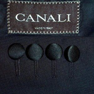 46L Canali PEAK LAPEL Black Tuxedo Evening BLAZER